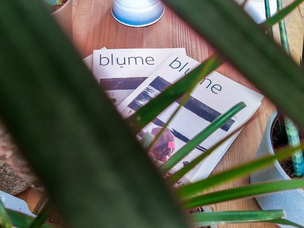 Copies of blume magazine Issue 001, featuring contemporary photography from around the world.